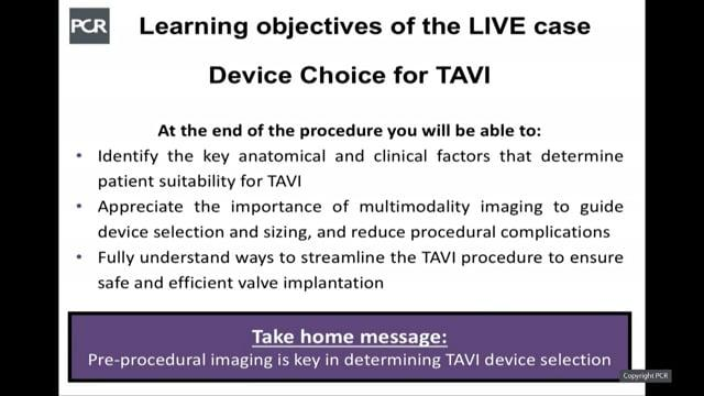 LIVE case: a TF TAVI with Acurate Neo valve